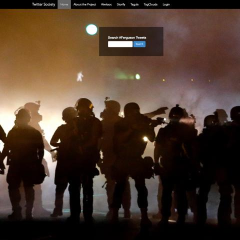 A screenshot of the Twitter & Society website.